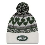 Women's New Era New York Jets Fairisle Pom Pom Knit Hat