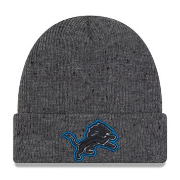 Adult New Era Detroit Lions Heathered Knit Beanie