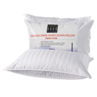 Elle 2-pack White Down Pillow