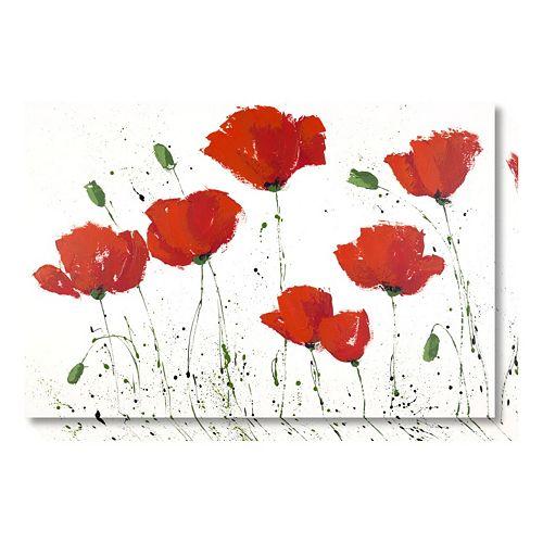 Amanti Art Poppies in a Row III Canvas Wall Art