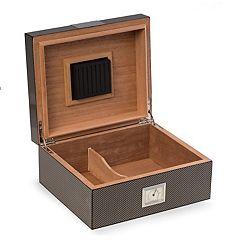 Bey-Berk Carbon Fiber 50-Cigar Humidor