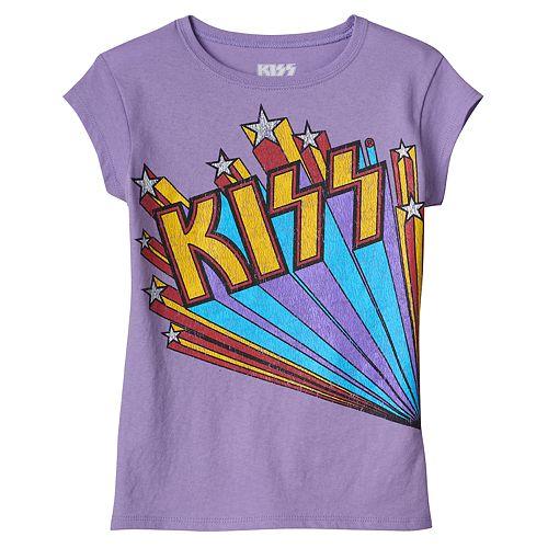 Girls 4-6x Kiss Graphic Tee