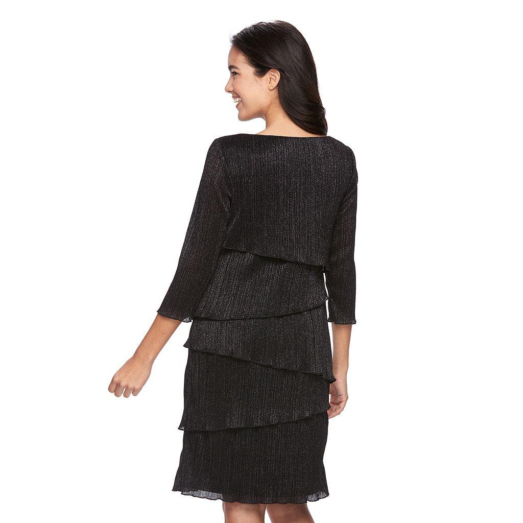 Women's Ronni Nicole Crinkle Metallic Sheath Dress