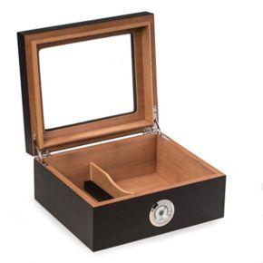 Bey-Berk Espresso 50-Cigar Humidor