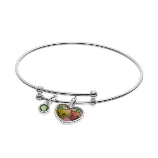 Shopkins Kids' Crystal Charm Bangle Bracelet