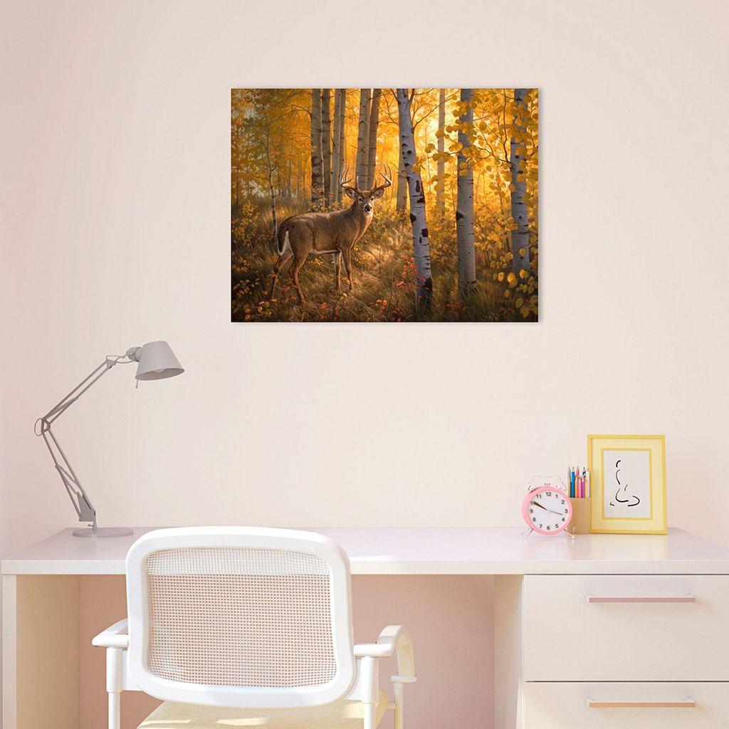 Amanti Art Whitetail in Aspens Canvas Wall Art