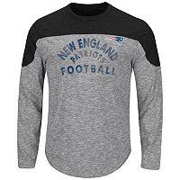 Big & Tall Majestic New EnglandPatriots Football Tee