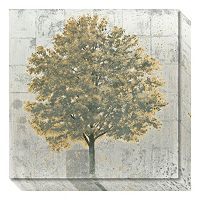 Amanti Art Neutrality Gold Tree Canvas Wall Art