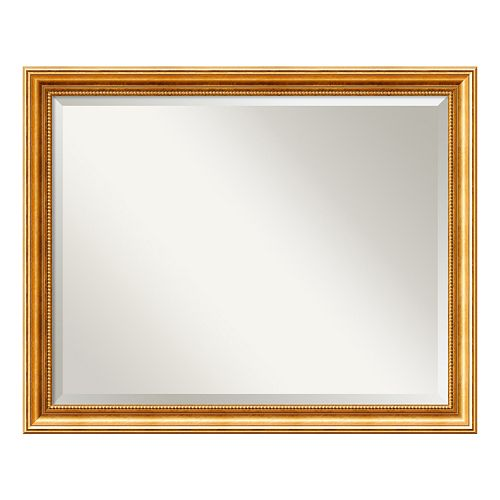 Amanti Art Townhouse Gold Tone Large Wall Mirror