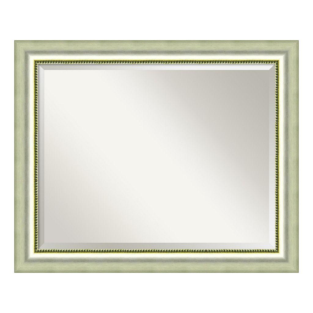 Amanti Art Vegas Burnished Silver Finish Large Wall Mirror