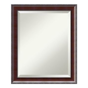 Amanti Art Country Walnut Finish Medium Wall Mirror