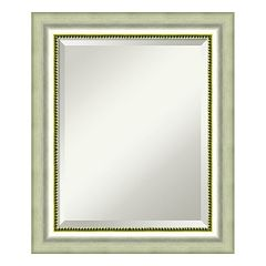 Amanti Art Vegas Burnished Silver Finish Medium Wall Mirror