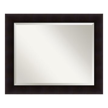 Amanti Art Portico Espresso Large Wall Mirror