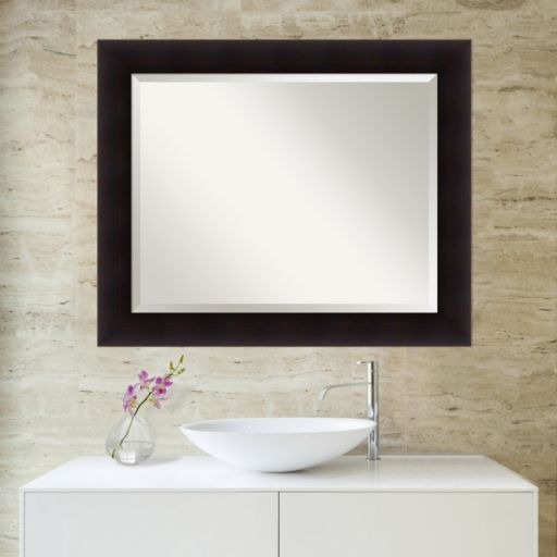 Amanti Art Portico Espresso Large Wall Mirror