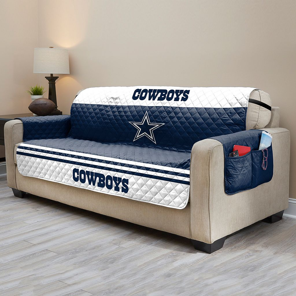 Dallas Cowboys Quilted Sofa Cover