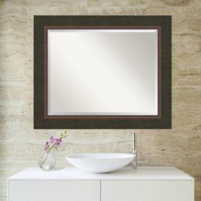 Amanti Art Milano Espresso Large Wall Mirror