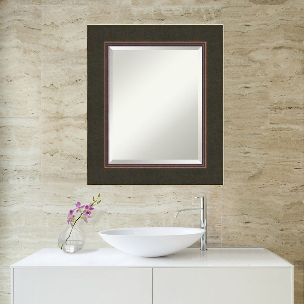 Amanti Art Milano Espresso Medium Wall Mirror