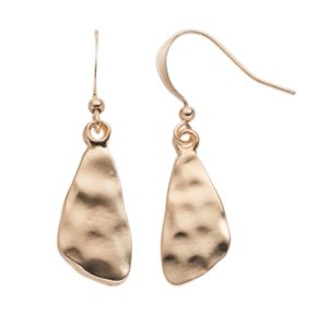 Hammered Nickel Free Abstract Teardrop Earrings