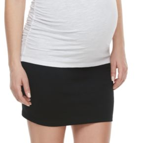 Maternity a:glow Belly Panel Ponte Pencil Skirt