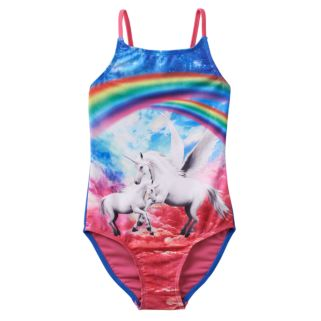 Girls 4-16 SO® Rainbow Unicorn One-Piece Swimsuit