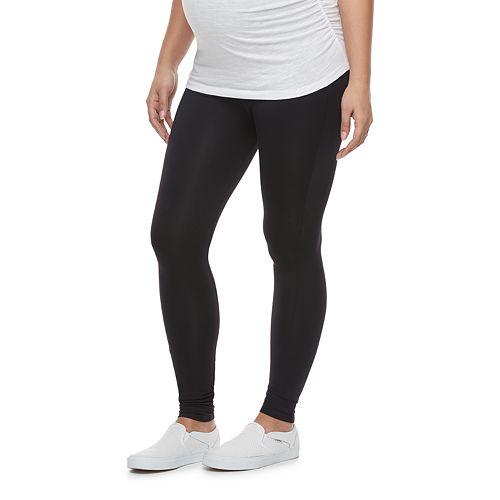Maternity a:glow Belly Panel Black Leggings