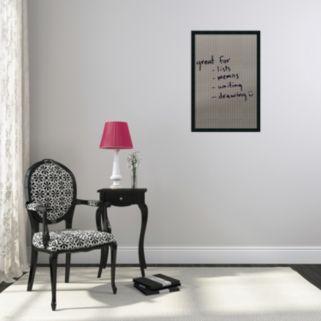 Framed Large Dry Erase Board Wall Decor