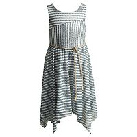 Girls 4-6x Youngland Stripe Handkerchief Hem Skirt Dress