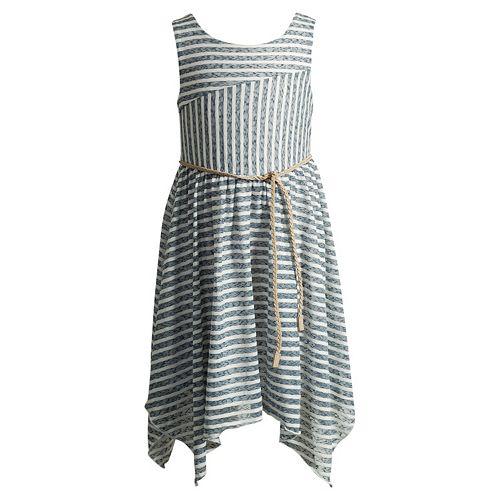 Girls 4-6x Youngland Stripe Handkerchief Hem Skirt Dress