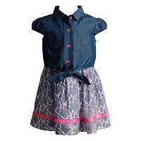 Toddler Girl Youngland Floral Dress & Popover Shirt Set
