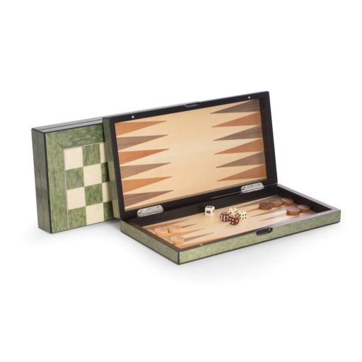 Bey-Berk Lacquered Wood Multi-Game Set