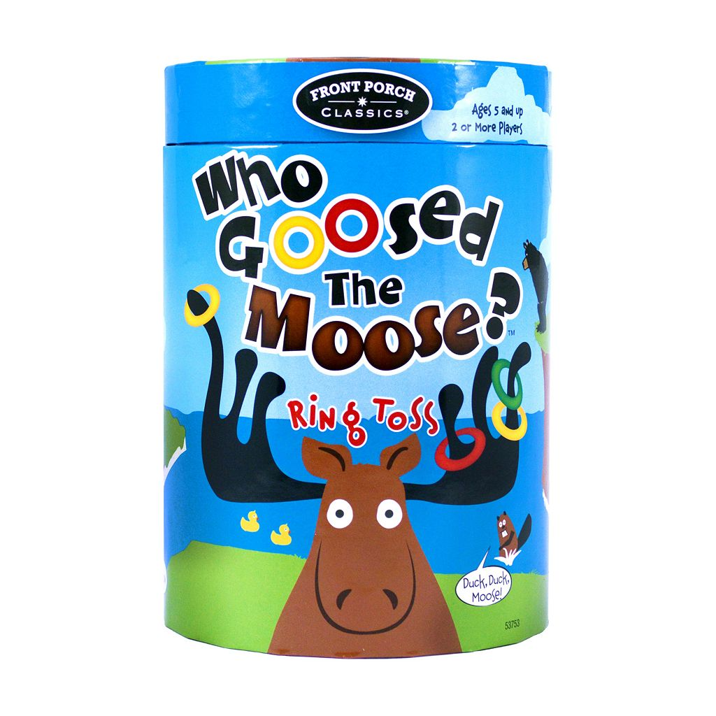 Who Goosed The Moose? Ring Toss Game by Front Porch Classics