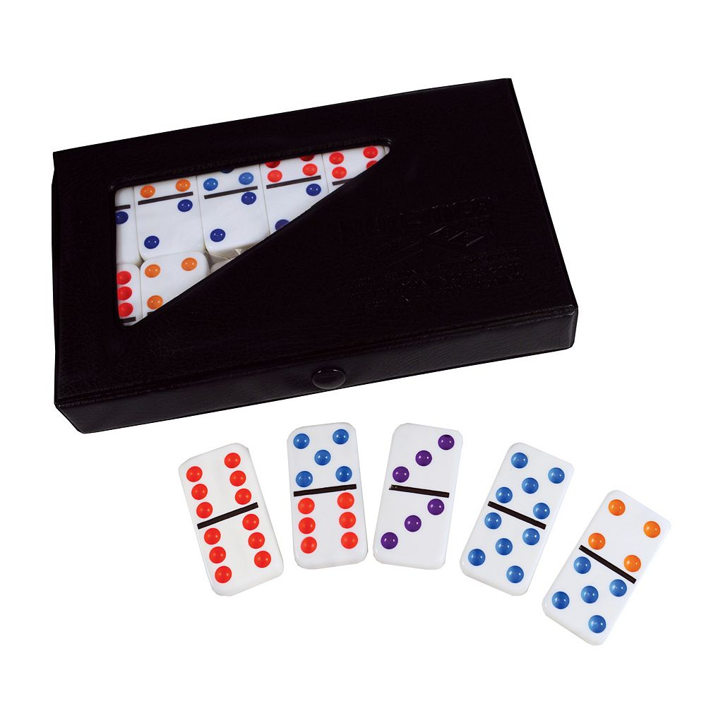 Double 6 Color Dot Tournament-Sized Dominoes by Puremco