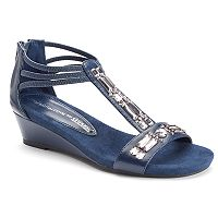 Croft & Barrow® Women's Ortholite Jeweled Wedge Sandals