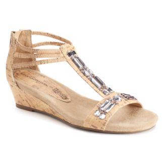 Croft & Barrow® Women's Ortholite Jeweled Wedge Sandals