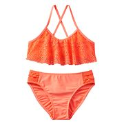 Girls 4-16 SO® Crochet Overlay 2 pc Bikini Swimsuit Set