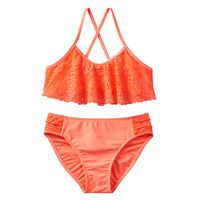 Girls 4-16 SO® Crochet Overlay 2-pc. Bikini Swimsuit Set