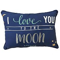 ''I Love You to the Moon and Back'' Oblong Throw Pillow