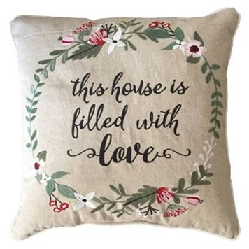 ''This House is Filled with Love'' Throw Pillow