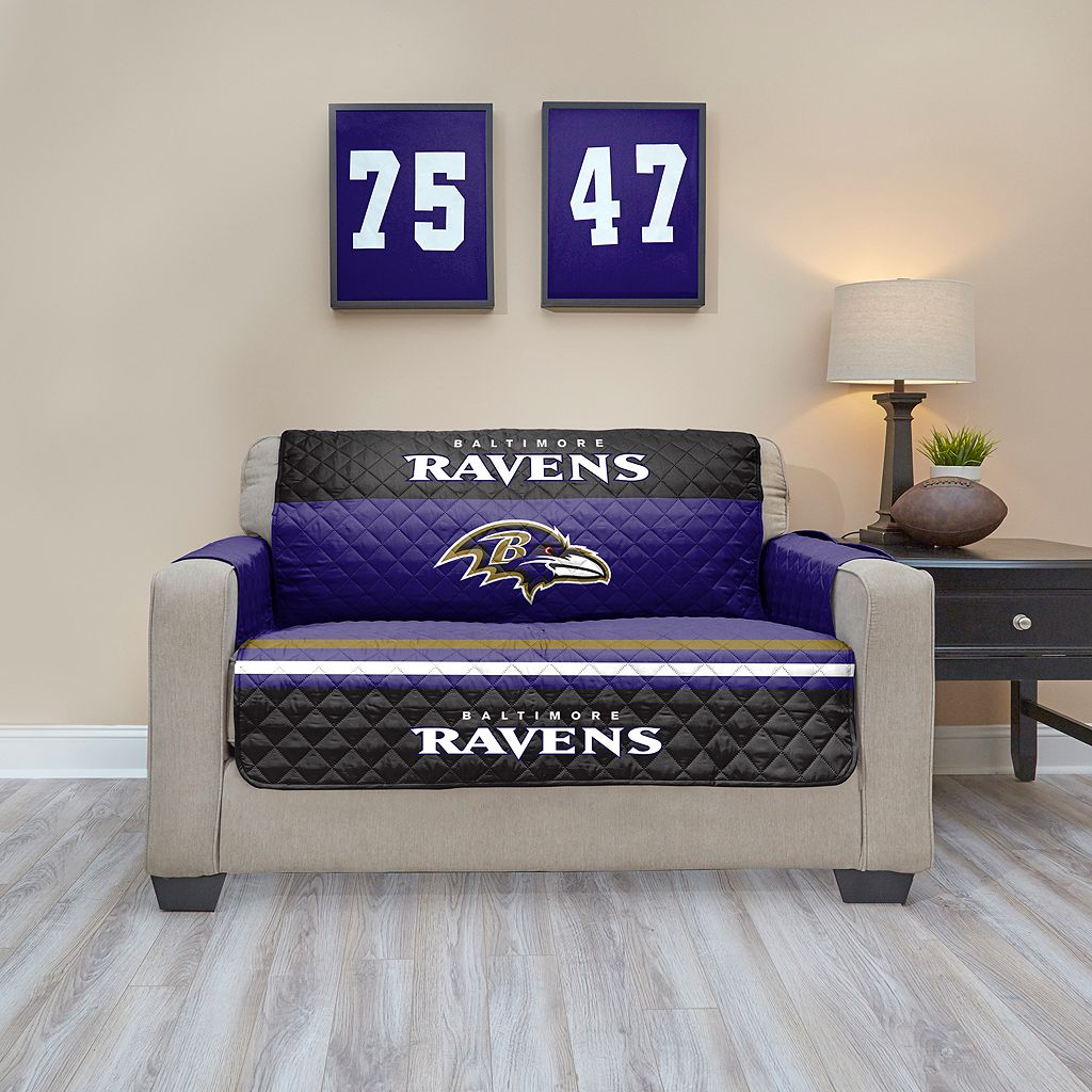 Baltimore Ravens Quilted Loveseat Cover