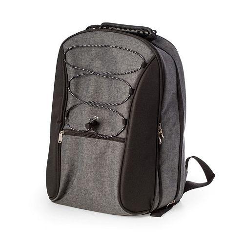 Men's Bey-Berk Canvas Picnic Backpack