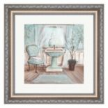 Metaverse Art Aqua Blossom Bath I Framed Wall Art