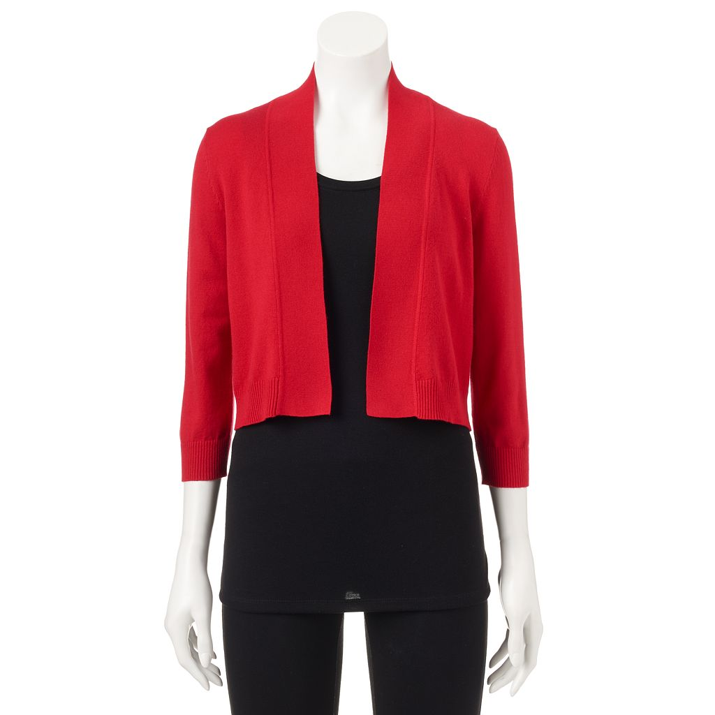 Women's Ronni Nicole Solid Shrug Cardigan