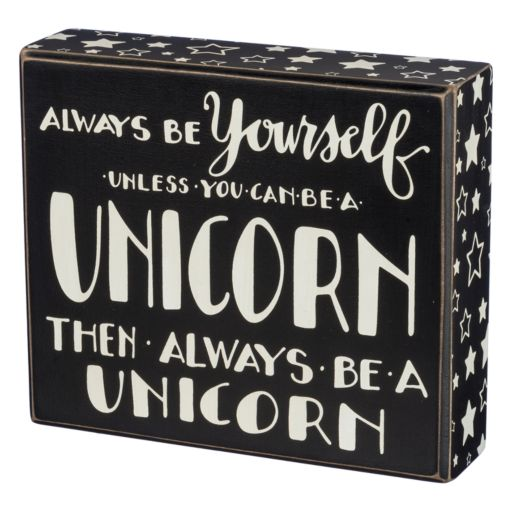 """Unicorn"" Box Sign Art"