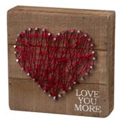 'Love You More' String Box Sign Art