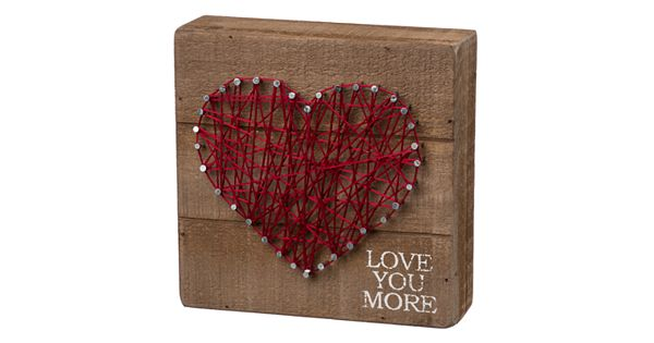 Quot Love You More Quot String Box Sign Art