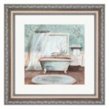 Metaverse Art Aqua Blossom Bath II Framed Wall Art