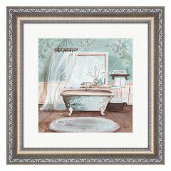 Metaverse Art Aqua Blossom Bath II Framed Wall Art