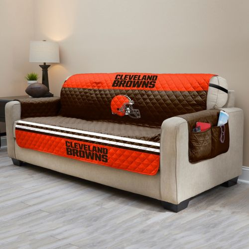 Cleveland Browns Quilted Sofa Cover