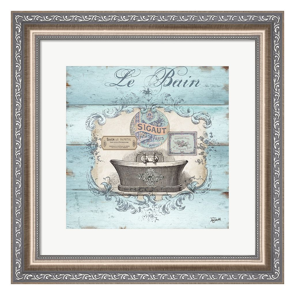 Metaverse Art Rustic French Bath II Framed Wall Art