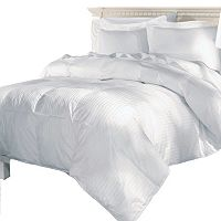 Elle Damask Stripe 500 Thread Count European Goose Down Comforter